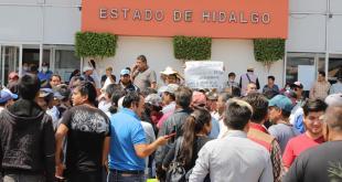 Feriantes de Hidalgo se manifiestan por medidas ante coronavirus
