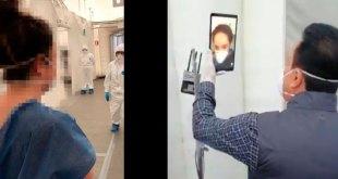 Platica Fayad con jóvenes internados en hospital de respuesta inmediata