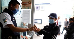 Realizan filtros y colocan gel antibacterial en Hidalgo vs el coronavirus