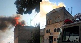 Se incendia una vivienda en Piracantos tras explosión