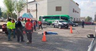 Fallece mujer tras ser atropellada por autobús en Huichapan