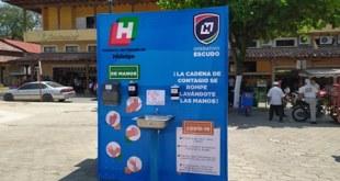Sin operar, lavamanos para abatir coronavirus en Huejutla