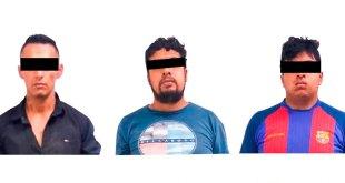 Arrestan a tres por robar un automóvil en Pachuca
