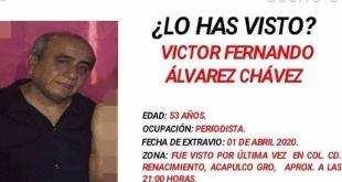El periodista Víctor Fernando Álvarez Chávez, director del portal Punto x Punto Noticias, fue hallado decapitado en la Colonia Ciudad Renacimiento en Acapulco, Guerrero.