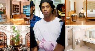 Ronaldinho vive una lujosa prisión domiciliaria