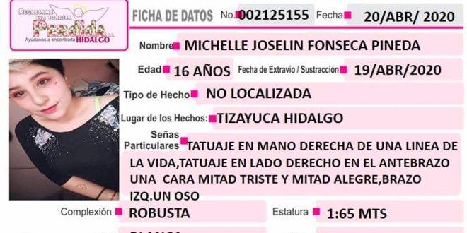 Se busca a Muchelle Joselín Fonseca, desapareció en Tizayuca