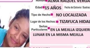 Buscan a una joven de 15 años extraviada en Tizayuca