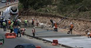 En contingencia, siguen las obras de infraestructura vial en Pachuca