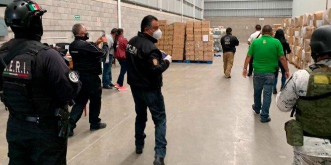 Recuperan cargamento de cubrebocas que había sido robada en Edomex
