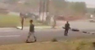 Vinculan a 5 por agredir policías de Hidalgo en filtro del No Circula