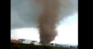 De nueva cuenta, registran un tornado en Puebla