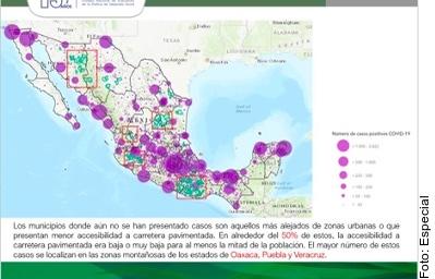 Tienen más casos de Covid-19 zonas con menos de 40% de pobreza