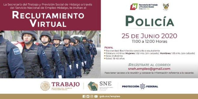 ¿Buscas empleo? Convocan a reclutamiento para policías federales en Hidalgo