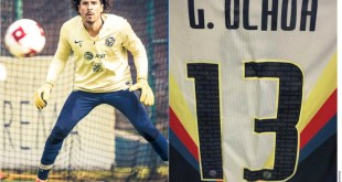 Recupera Memo Ochoa el dorsal 13 en playera con América