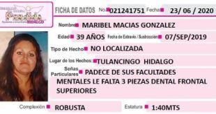 Piden ayuda para localizar a Maribel Macías; se extravió en Tulancingo