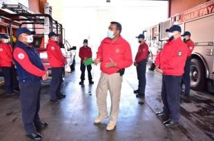 Aíslan a 22 empleados de Bomberos de Hidalgo tras caso de familiar