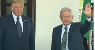 Recibe Donald Trump a AMLO en la Casa Blanca