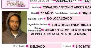 Se busca a Osvaldo Arcos, extraviado en Tula de Allende