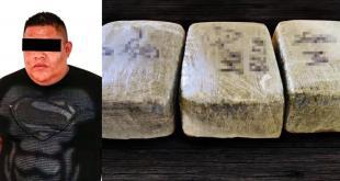 Detienen a un sujeto con 15 kilos de marihuana en Tula