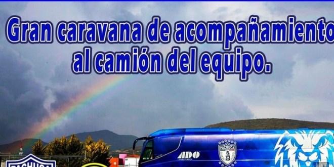 Organizan caravana para acompañar a los Tuzos del Pachuca al estadio