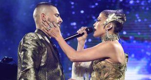 Graban Jennifer Lopez y Maluma bomba musical