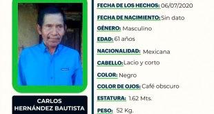 Se busca a Carlos Hernández Bautista, desapareció en Atlapexco