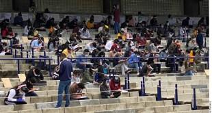 Aplica UNAM examen en estadio Olímpico Universitario