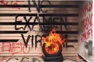normalistas oficinas IEEPO Oaxaca