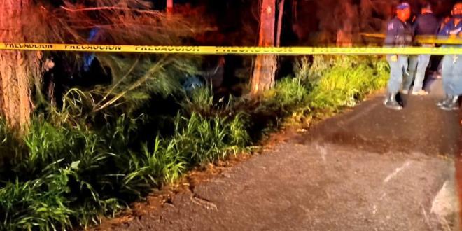 Muere un menor al impactar auto contra un árbol, en Mixquiahuala