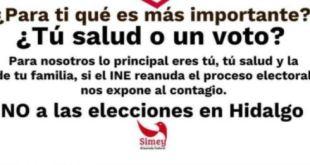 Llama diputada celebrar elecciones Hidalgo