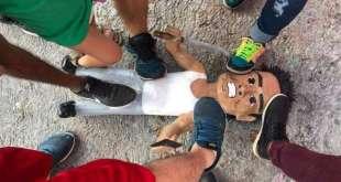 Tamaulipas piñata ladrón de combi