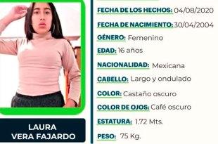busca Laura Vera Fajardo extravió Mineral de la Reforma