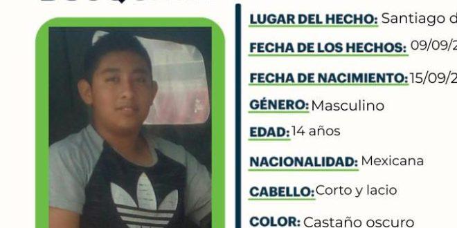 Se busca a J. A. P. G., extraviado en Santiago de Anaya