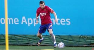 Regresó Messi a las prácticas con el Barcelona, tras polémica