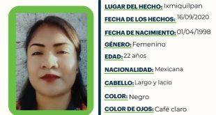 Se busca a Norma Isela Delgado Sanpedro, extraviada en Ixmiquilpan
