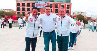 Presidente nacional PRI recorrió centro Pachuca Sergio Baños