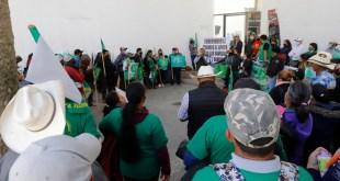 protesta demanda UNTA apoyos suspendidos elecciones