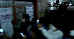 A oscuras, realizaron conteo de votos en casilla de Mineral de la Reforma