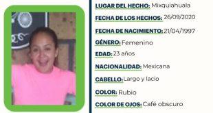 Buscan a Flor del Río, quien se extravió en Mixquiahuala