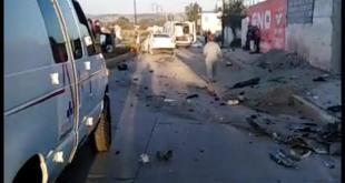 Vehículo impacta motocicleta Cuautepec dos muertos