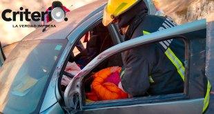 Cae auto canal bulevar nuevo Hidalgo Pachuca lesionada