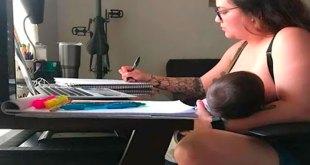 Maestro prohíbe alumna amamantar bebé clase online