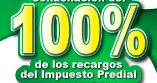 Condonarán en La Reforma 100% de recargos por predial