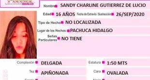 Piden ayuda localizar Sandy Charline extravió Pachuca