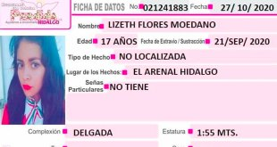 Piden ayuda localizar Lizeth Flores extravió El Arenal