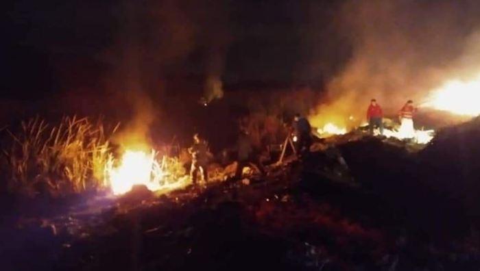 incendio terreno baldío Mixquiahuala