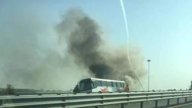 Se incendia autobús de pasajeros en la México-Pachuca