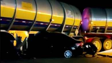 Hombre queda prensado tras choque pipa Tula