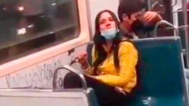 Lady Rayones pintó vagón Metro Cdmx