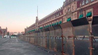 Blindan vallas Palacio Nacional protestas